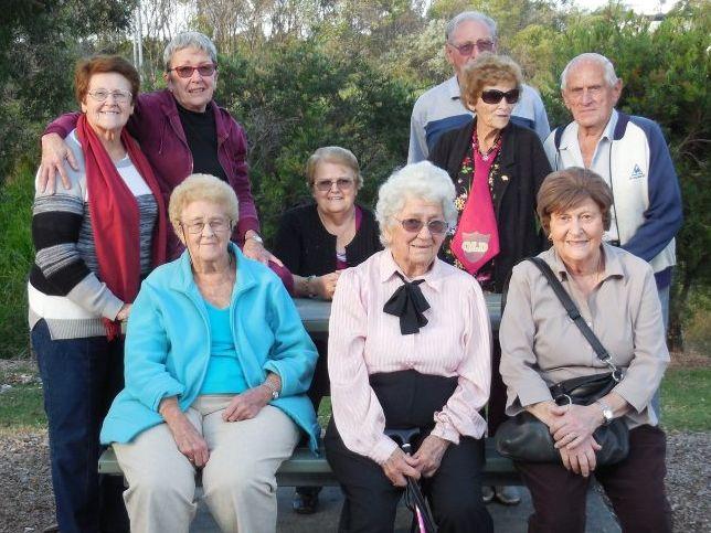 A group enjoying their recent trip.