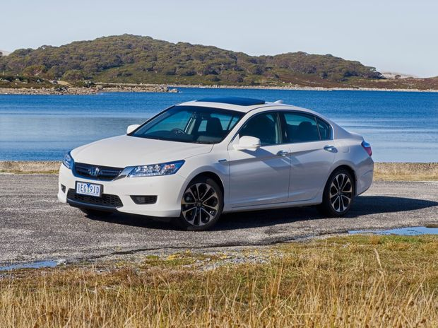 HYBRID TECH: With a 124kW electric motor joining the 2.0-litre four-cylinder consumption is reduced to 4.6-litres/100km. But the Accord Sport Hybrid weighs in at $58,990.
