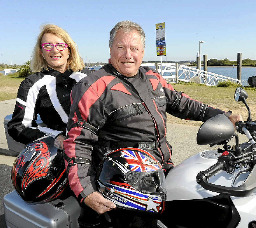 REVVED UP: Sue Hughes and Trevor Walter will be participating in the 'Black Dog' ride to Uluru for mental health. PHOTO: DEBRAH NOVAK