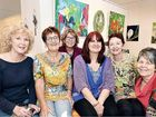 CREATIVE: Some of the artists from the Fraser Coast Gems exhibition at Hervey Bay Regional Gallery Rosemary James, Ruth Bingley, Natalie Prior, Karen Roberts, Barbara Hurst and Lyn Montgomery.