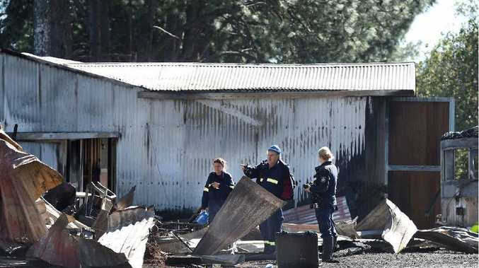 DESTROYED: A fire at a property along Gap Rd at Alstonville burnt down a shed connected to horse stables.