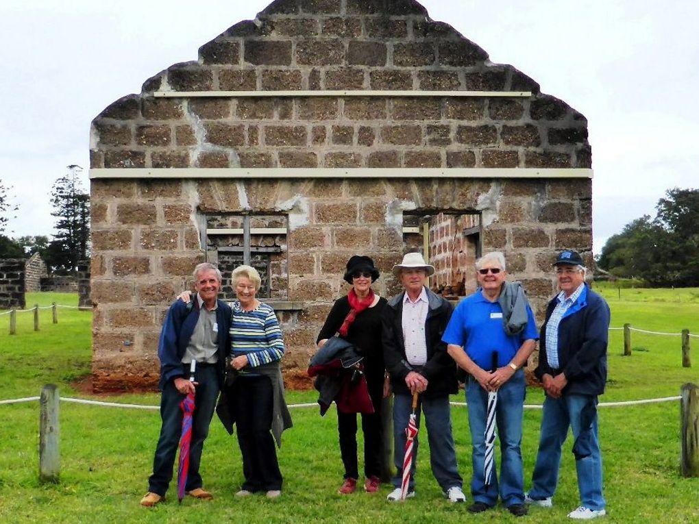 Dave Liston, Shirley Davey, Rosslyn Broadbent, Robert Broadbent, Allan Shoemark and Joe Russo on St Helena Island.