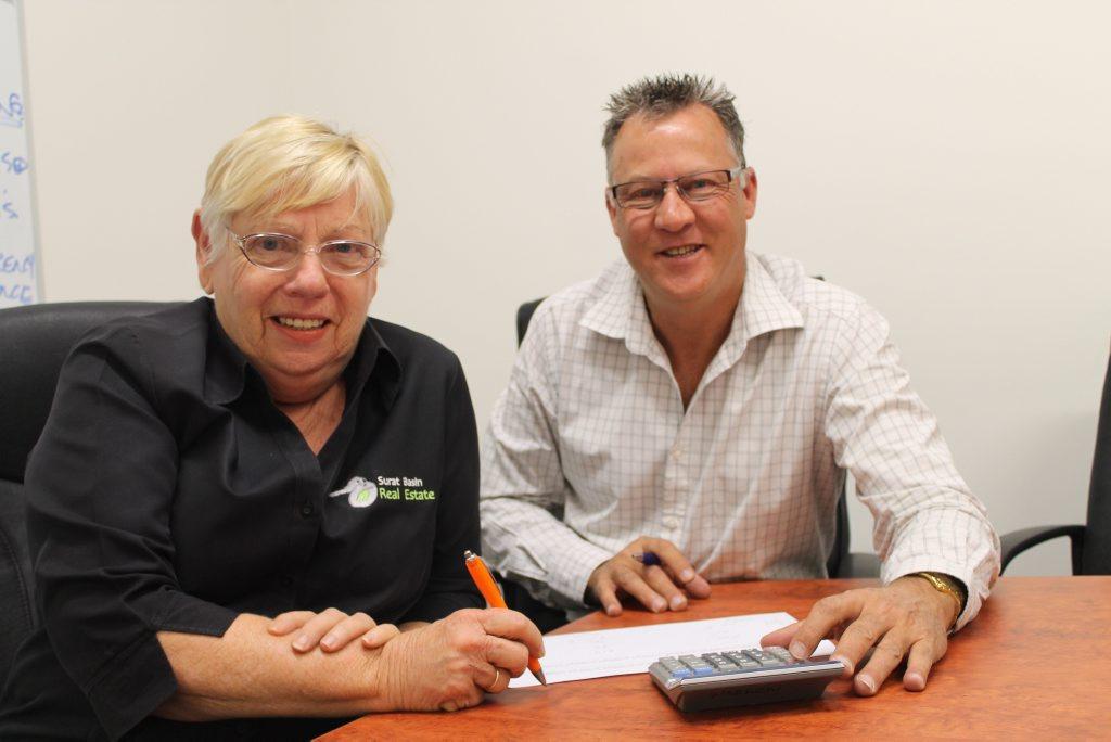 Surat Basin Real Estate's Pam Moloney and Warren Daniells. Photo Hayden Smith / Chinchilla News