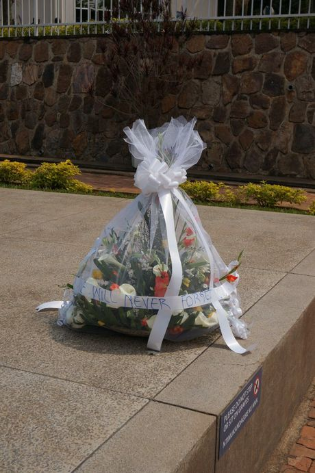 Flowers left all over the Kigali Memorial Centre grounds urge visitors to never forget the atrocities that occurred in Rwanda. Contributed photos by Rae Wilson