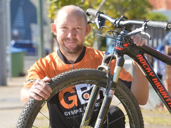 ON YOUR BIKE: Matt Hunter is ready to ride this weekend. Photo Craig Warhurst/ The Gympie Times