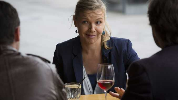 Justine Clarke in a scene from House Husbands.