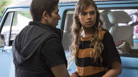 Firass Dirani and Indiana Evans in a scene from House Husbands.