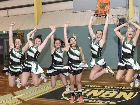 JUBILATION: Maclean High School celebrates winning the Daily Examiner Open Netball Challenge final. PHOTO: ADAM HOURIGAN