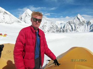 Footy legend faces death on the slopes of angry Everest