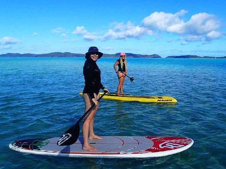 Enjoy some paddle boarding