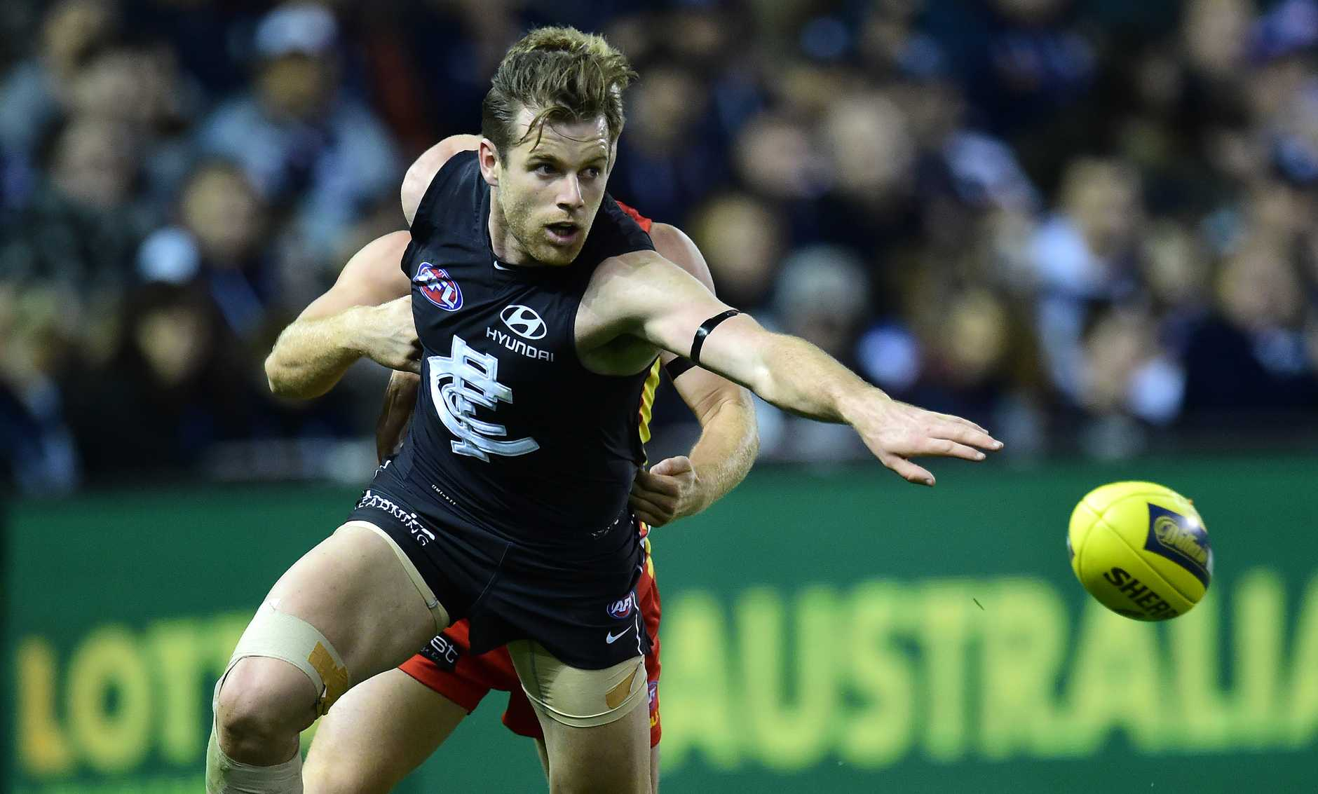 Sam Docherty is in his second season with Carlton after crossing from the Brisbane Lions.