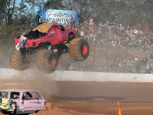 Radio host to jump car in monster truck