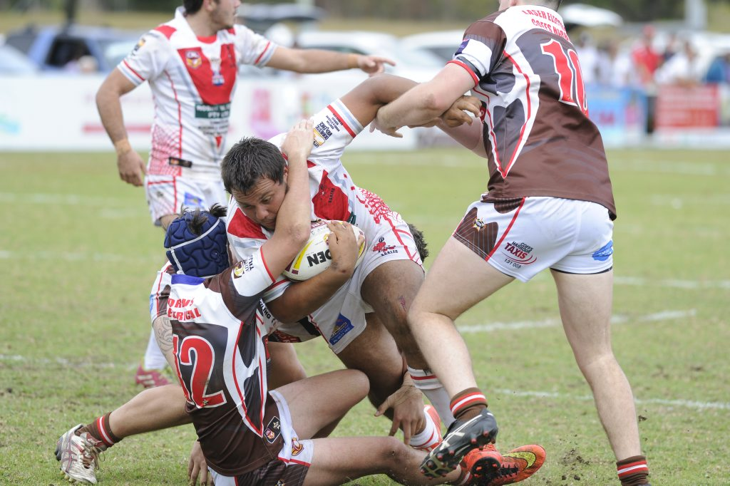 South Grafton Rebels under 18 player during the Group 2 preliminary final at Coffs Harbour's Geoff King Motors Sports Complex on Sunday, 16th August, 2015. Photo Debrah Novak / The Daily Examiner