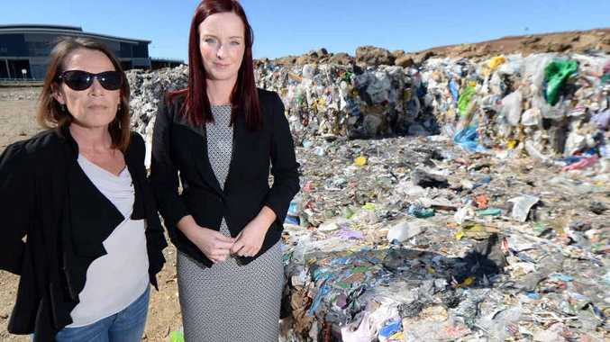 PLASTIC POLLUTION: Plastic Bag-Free Livingstone Shire group spokesperson Joanne Stoyel and Member for Keppel Brittany Lauga want to eliminate plastic bags in Livingstone Shire. They hope Bindi Irwin will be the face of the campaign.