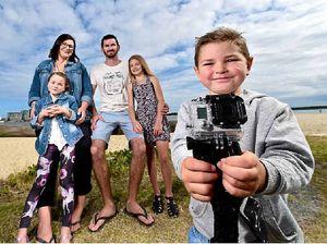 Hunt for camera owner after fisherman hooks Go Pro