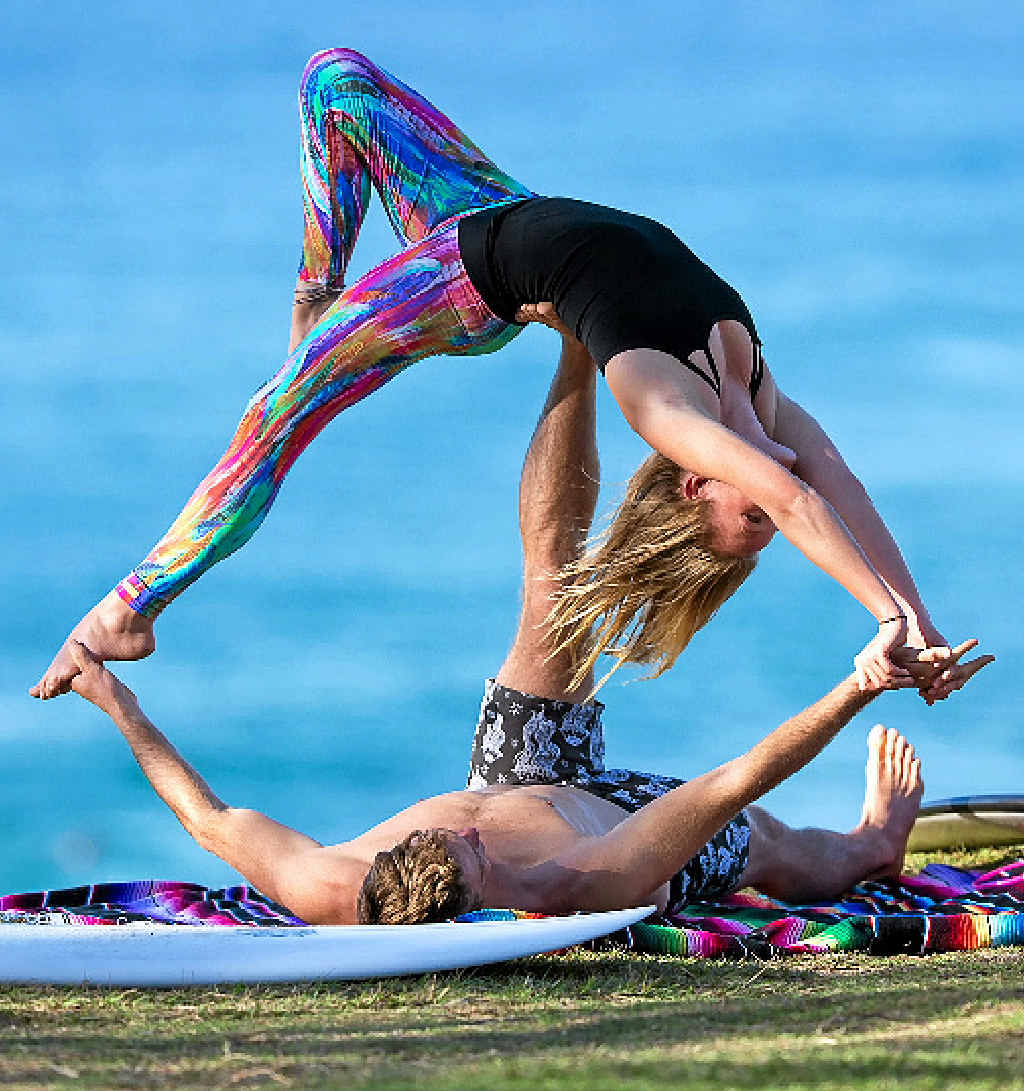 A YOGA RELATIONSHIP: Bodhi Whitaker and Kat Tucker will hold a special couple's yoga evening.