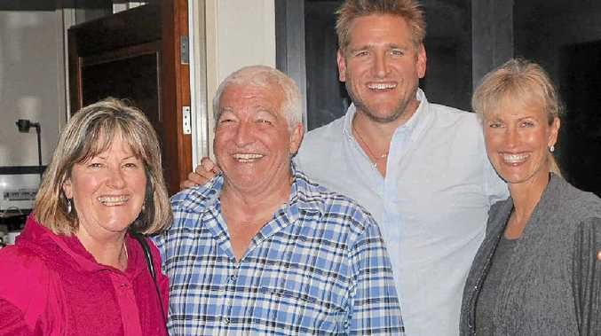STAR POWER: Heliport Studios owners Barbara and Allan Pease with celebrity chef Curtis Stone and his mother Lorraine.