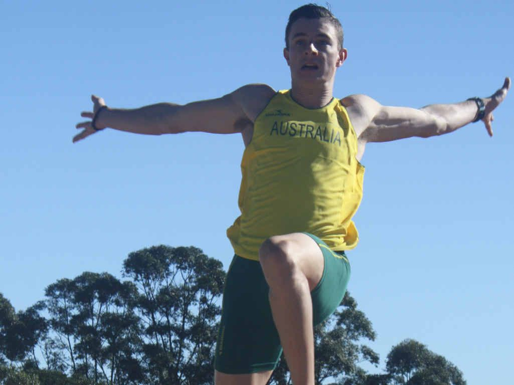 I BELIEVE I CAN FLY: Beerwah's Rowan Sutton will jump for gold in Samoa.