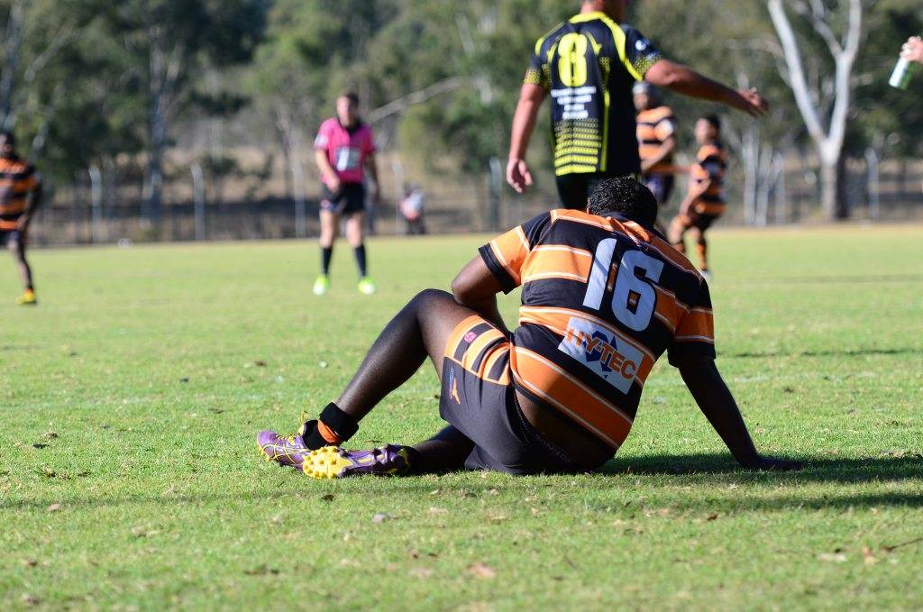 Daniel Cobbo was left floored after Wondai's attack. Photo Keagan Elder / South Burnett Times