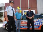 Superintendent Ron Van Saane, Transport and Main Roads road safety manager Col Edmonton and Senior Sergeant Ewan Findlater. Photo Allan Reinikka / The Morning Bulletin