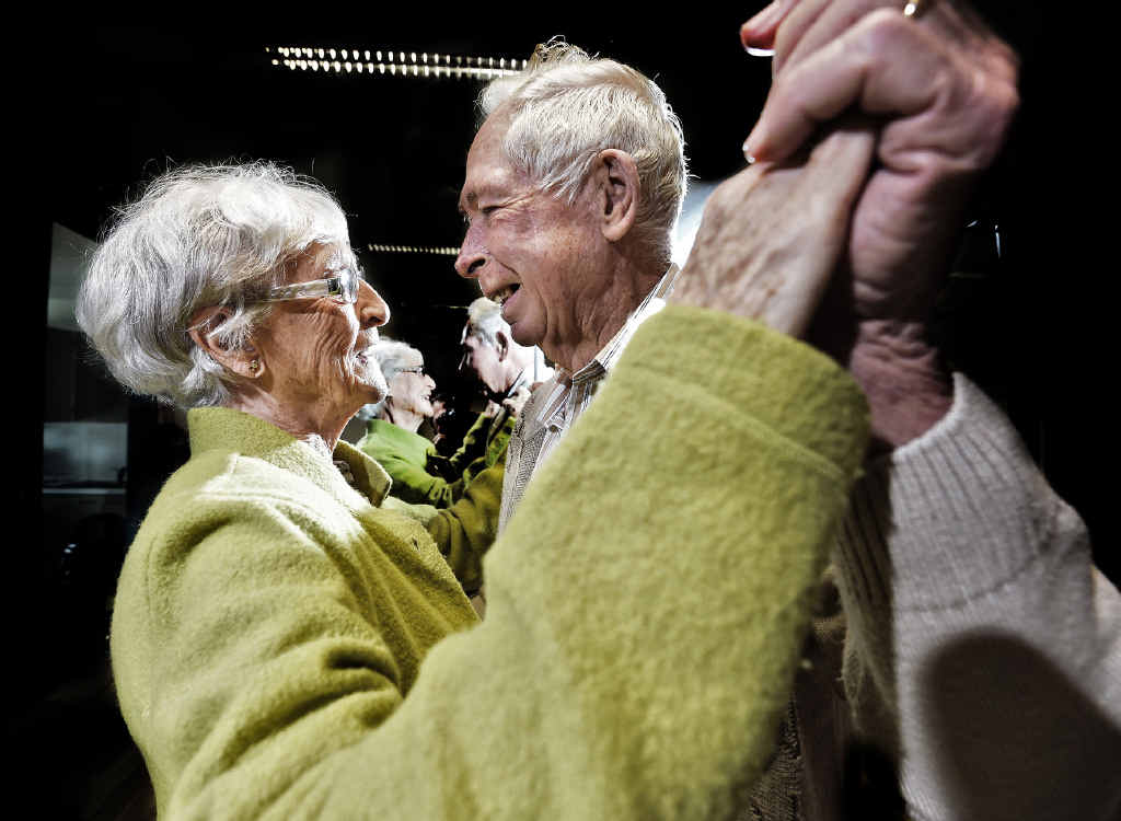 HAPPY TIMES: Joan Campbell and Dennis Cooper at Dancing for PD in Lennox Head.