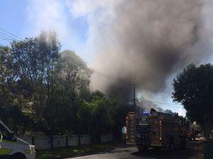 Fire crews battle Sturt St blaze