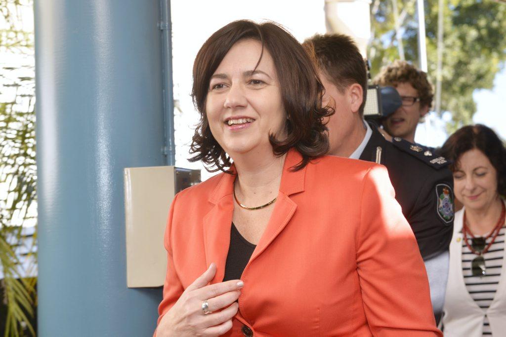 Premier Annastacia Palaszczuk. Photo Inga Williams / The Queensland Times