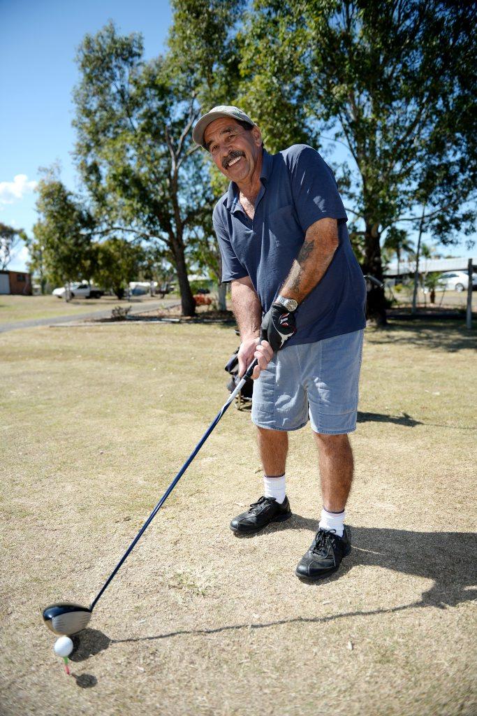 Capricorn Country Club veteran golfer Maurice Brown. Photo Allan Reinikka / The Morning Bulletin
