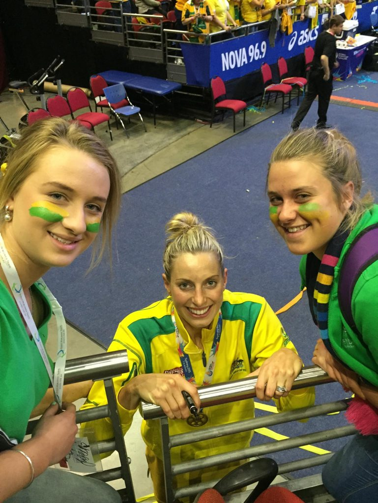 Clifton sisters Sarah and Lucy Mantova in Sydney with Diamonds captain Laura Geitz. Photo Contributed