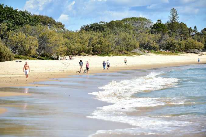 Good Morning, The Spit Mooloolaba. The spit is the perfect place for a stroll along the beach. Photo: Che Chapman / Sunshine Coast Daily