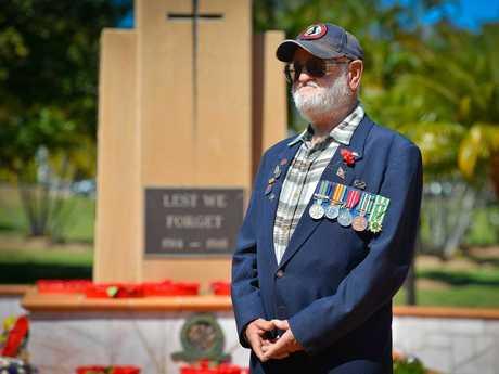 Vietnam veteran Trevor Davis at the Long Tan service.