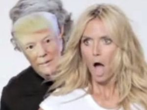 Heidi Klum out trumps Trump with mock video