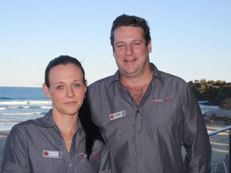 Coolum Surf Club staff members Melissa Burford and Keith Jackson acted quickly to save a woman who nearly choked to death on a her meal.