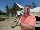 "Anthony White lost of of the ""Three Churches"" which is now a pile of twisted metal and shattered timber, to Tropical Cyclone Marcia. Photo: Chris Ison / Allan Reinikka / The Morning Bulletin"