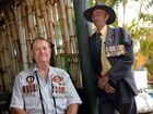 Greg Gill and Wayne Cowie relax at Cockscomb on Vietnam Veterans Day. Photo Allan Reinikka / The Morning Bulletin