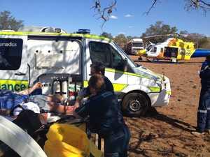 Man suffers broken leg in horse fall