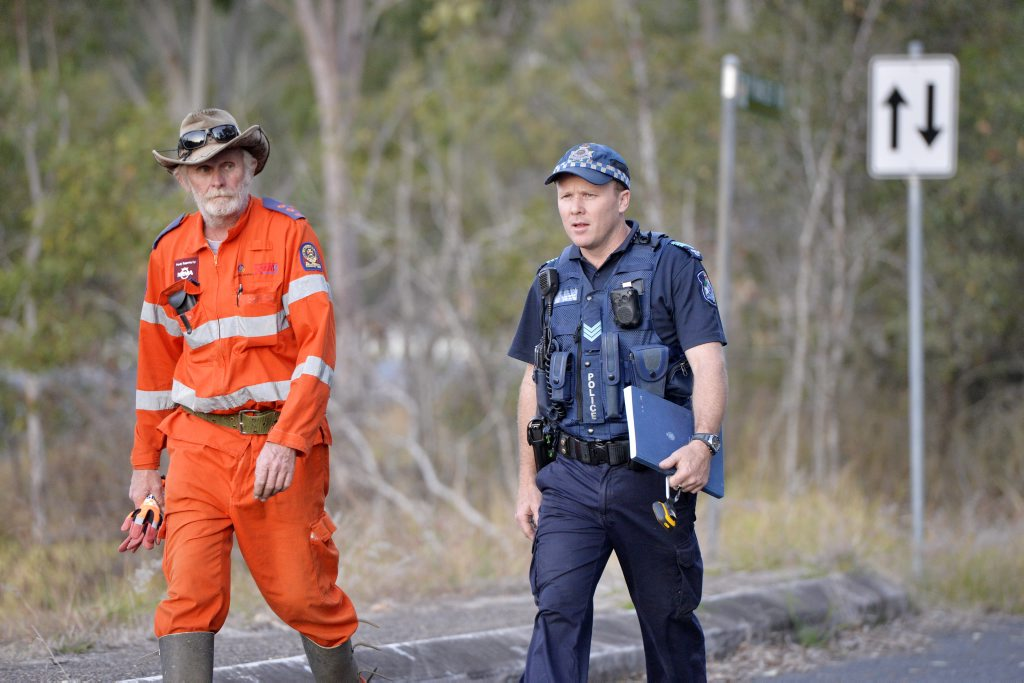 Search continues for missing Gatton girl Jayde Kendall, 16 near the Warrego Highway in Walloon. Photo Inga Williams / The Queensland Times