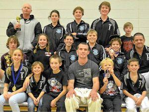 Local karate students at nationals