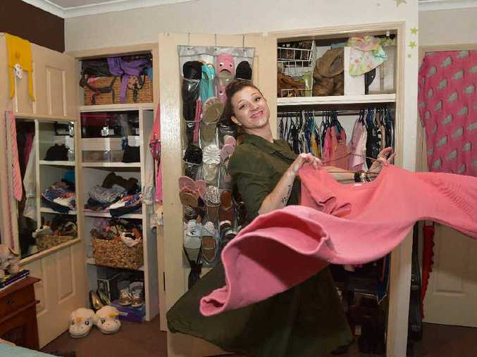 Leea Gilmour shows off the product of savvy shopping - and her enviable walk-in wardrobe.