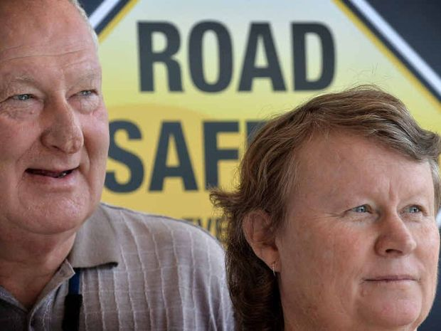 LIVING IN A VOID: Michael and Lorraine Connolly, whose son Jason was killed in a motorcycle crash at Maleny four years ago, speak out for Road Safety Week.