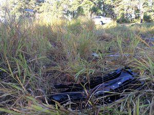 Fatal crash scene at Parklands, Nambour