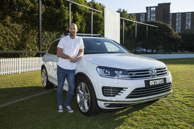 VW MAN: Jarrad McVeigh of Sydney Swans and his Touareg R-Line SUV