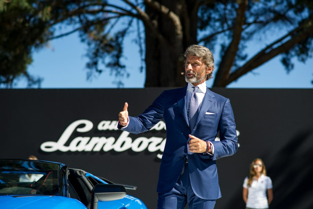 Stephan Winkelmann, President and CEO of Automobili Lamborghini, at the launch of the Lamborghini Aventador LP 750-4 Superveloce Roadster. Photo: Contributed