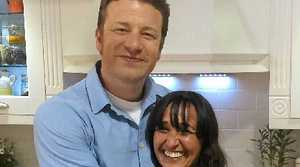 ADVISOR TO STARS: Bangalow healthy food expert Jody Vassallo with chef Jamie Oliver.