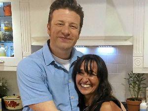 ADVISOR TO STARS: Bangalow healthy food expert Jody Vassallo with chef Jamie Oliver.