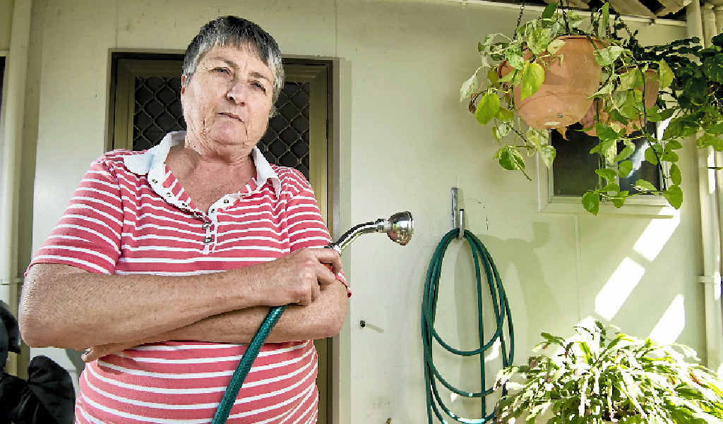WATER WOES: Gladstone retiree Carol Schmidt is worried mainly by the water access costs and how the council spends ratepayers' money.