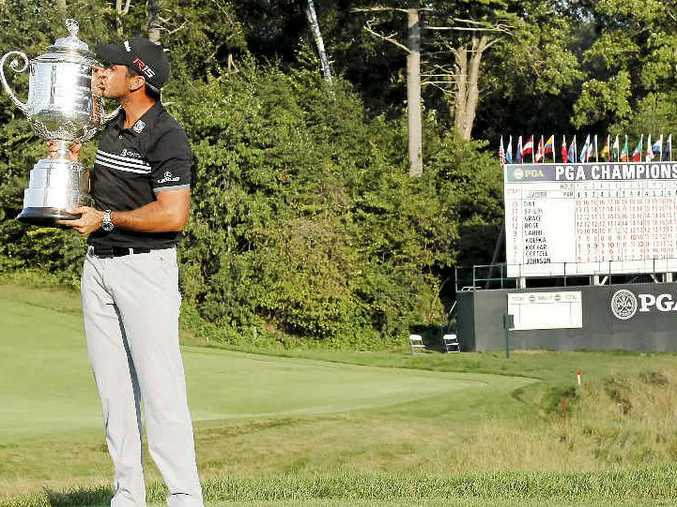 AMAZING TOTAL: Jason Day could not believe his winning US PGA Championship score would surpass the best names in golf.