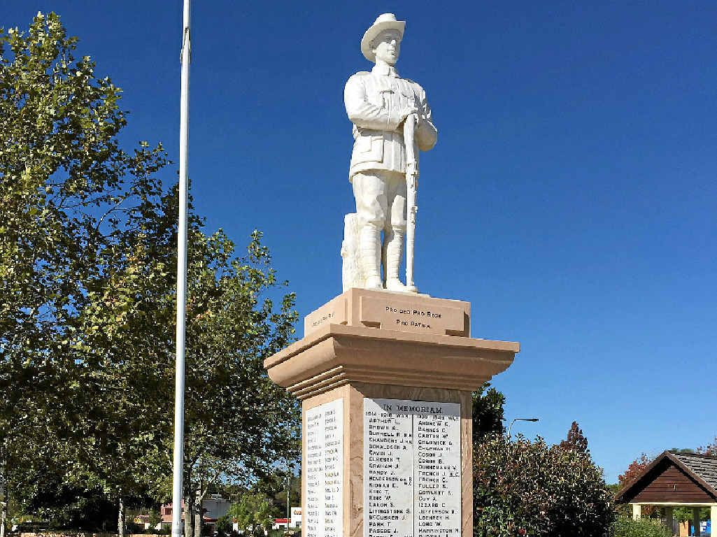 HISTORICAL MONUMENT: The Crows Nest War Memorial will be re-dedicated in a ceremony tomorrow.