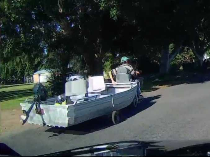 Spotted in Ballina: Nothing will stop this guy from going fishing.