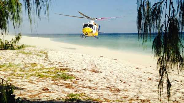 A woman just made it to the Rockhampton Hospital for the birth of her child after she was airlifted from Masthead Island by the RACQ Capricorn Rescue crew.